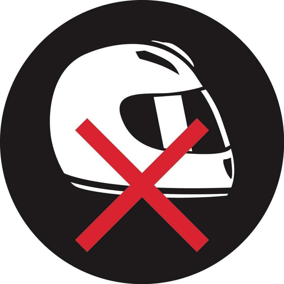 Helmets forbidden